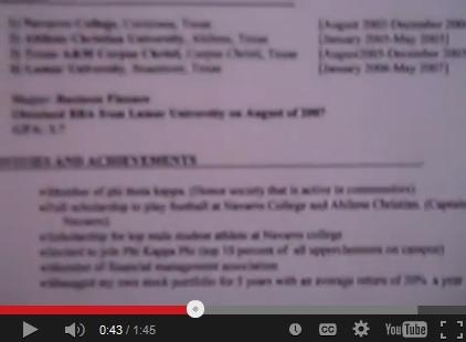 resume video explains the secrets of a resume