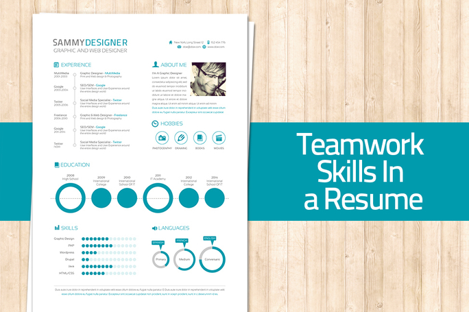 how to mention teamwork and skills in a resume